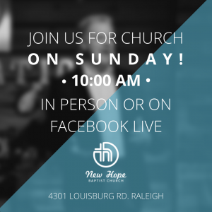 Join us for Church on Sunday